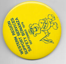 Bell Telephone System Union Bab Safety 2 In Pin 1979 Support Workers Labor Cwa 1