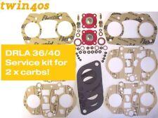 Dellorto DRLA 36 40 service kit FOR TWO CARBS! Twin carburettor FREE UK POSTAGE