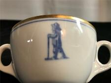 RARE The Links Club NYC East 62nd Street 2 Handled Bouillon Cup 1941 OPCo China