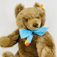 "Steiff Teddy Bear Mohair Brown #0202/41 Tags 14"" Jointed Germany"