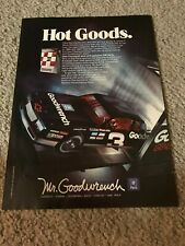 Vintage 1989 DALE EARNHARDT #3 CHEVY MR. GOODWRENCH CAR Poster Print Ad 1980s
