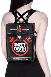 Gothic Rucksack Sweet Death Zigarettenschachtel backpack Killstar schwarz Tasche