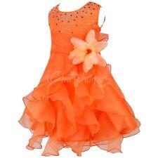 Kids Girls Party Princess Flower Formal Wedding Bridesmaid Prom Christening Dres