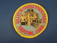 Vintage Gilette Castle State Park Hadlyme CT Souvenir Embroidered Iron On Patch