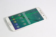 Samsung Galaxy S6 Edge 32GB - White (Unlocked)  SMASHED SCREEN, WORKS WELL 535