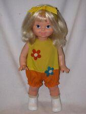 "18"" Mattel Swingy Walking Dancing Doll- Wearing Yellow & Orange Sunsuit"