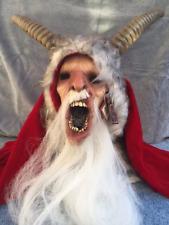 Halloween Christmas Michael Dougherty's Krampus Latex Deluxe Mask Haunted House