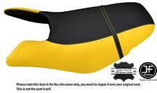 Noir & jaune custom fits seadoo gtx gti 97-01 avant vinyle housse de siège + sangle