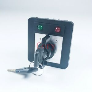 1PCS Changeover Switch 20A 380-440V/220-240V 3 Positions Key lock LED indicator