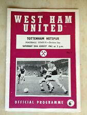 1962/63 Football League- WEST HAM UNITED v TOTTENHAM HOTSPUR - 25th August