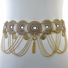 Belt chain Gold  Boho Gypsy Festival Tribal Bikini body jewellery belly tassel