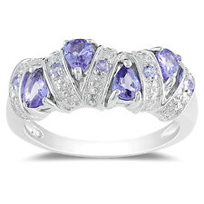 Amour Sterling Silver Tanzanite Ring