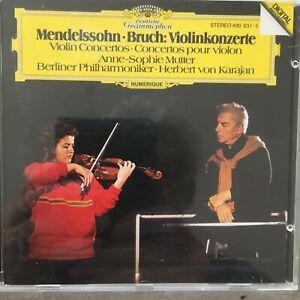 ANNE-SOPHIE MUTTER: Mendelssohn / Bruch Violnkonzerte (CD DG 400 031-2 / neu)