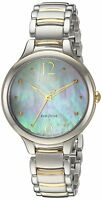 Citizen Eco-Drive Women's Mother of Pearl Dial Two-Tone 32mm Watch EM0554-58N