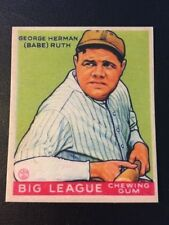 1933 Goudey Babe Ruth #181 Reprint Baseball Card