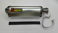 XTREME Akrapovic Silver Triangle Racing Exhaust Silencer For All Bikes