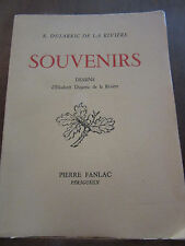 Dujarric de la Rivière: Souvenirs (avec envoi de l'auteur) / Ed. Pierre Fanlac