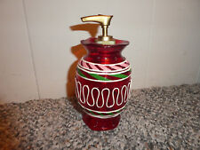 VTG  CHRISTMAS LOTION SOAP PUMP DISPENSER CANDY DECOR ACRYLIC  N