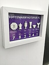 Tottenham Hotspur Fc Gift Hand Made Wall Frame With 3d Trophies