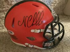 NICK CHUBB Signed Autographed CLEVELAND BROWNS Mini Speed Helmet PSA DNA authent