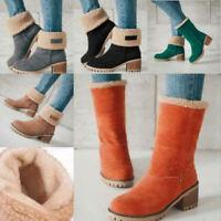 Women Boots, Sherpa - Chelsea Boots-PU-Green-Black-Grey-Orange-Khaki sz 7.5-9.5