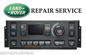 PIXEL REPAIR SERVICE 1995-2002 RANGE ROVER P38 CLIMATE CONTROL AC HEATER DISPLAY