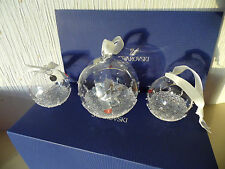SWAROVSKI CHRISTMAS 2015 3 BALL SET  ANNUAL EDITION.. B.N.I.B , FREE P&P.