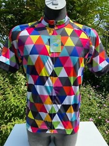 Harlequin Pattern Short sleeved Coolmax Cycling Jersey Full zip XXL New + Tag