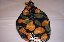Handmade black with pears Hanging  plastic grocery bag holder