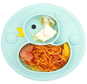 platos para bebes de silicona accesorios para bebes niños sin BPA con succion