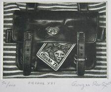 GEORGES ROUGY : « Arcane XXI ». signée et numérotée 50/100. Carte de vœux 1983,