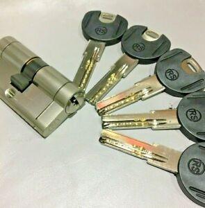 Cerradura Cilindro Seguridad 30x30 ANTI BUMPING Níquel Hasta 100 llaves incluye