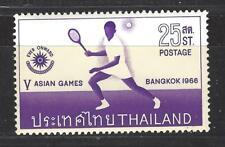 THAILAND  # 443  MNH  5TH ASIAN GAMES BANGKOK 1966,  TENNIS,  SPORTS