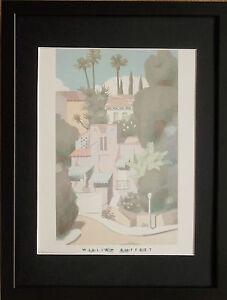 Graciosa by William Buffett -12''x16'' frame, william buffett street wall art