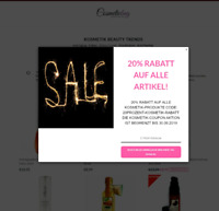 """Online Shop Domain Kaufen - Kosmetik """"Geld Verdienen"""" Sale Beauty Cosmeticbag.de"""