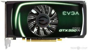 Nvidia Evga GeForce GTX 550 TI 2GB DDR5 Video Card Used tested and working