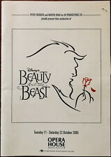 More details for beauty and the beast, opera house manchester brochure / programme 2005 + ticket