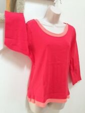 CAROLYN TAYLOR Double Layer Top, Size M, 100% COTTON