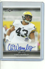 2017 Leaf Draft CHRIS WORMLEY Michigan Wolverines Auto Autograph Rookie