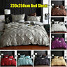 Bed Fitted Sheet Set Duvet Cover Flat Sheet Bedding Twin Queen King Solid Color