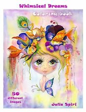 Adult Coloring Book - Whimsical Dreams: Color up a Fantasy, Magic Characters.