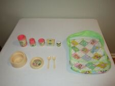 Vintage Cabbage Patch Kids Doll Diaper Bag Food Potty Chair Accessories