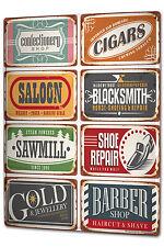 Tin Sign XXL Office Workshop Barber blacksmith Vintage metal plate plaque