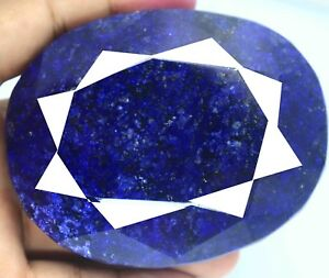 Certified Natural 2590.00 Carat Blue Sapphire Oval Shape Huge Gemstone BN1905