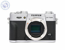 FUJIFILM X-T20 24.3MP Mirrorless Digital Camera (Body Only, Silver) UK MODEL
