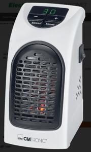 Clatronic HL 3738 Weiss-Silber Mini Heizlüfter für Steckdose