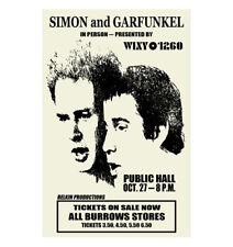 Simon And Garfunkel 1968 Cleveland Concert Poster