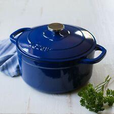 Lodge 5.5-Quart Enamled Cast Iron Dutch Oven Indigo Kitchen Cooking Cookware