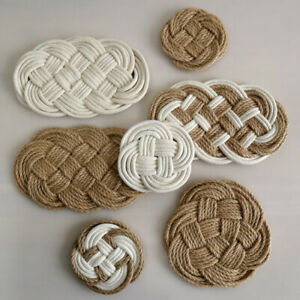 Thicken Insulation Pad Drink Coasters Dinning Hand-woven Heat Resistance LL