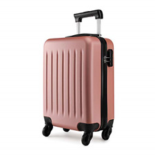 Kono 19 inch Carry On Luggage Lightweight Hard Shell ABS 4 Wheel Spinner Nude